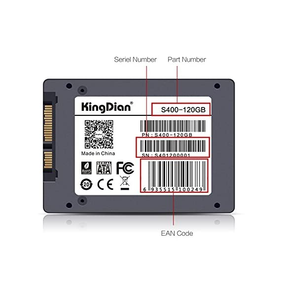 "KingDian 2.5"" SATA III Internal Solid State Drive 120gb SSD for PC Laptop Desktop POS Game Advertising Machine(S400 120G) 2 1. SATA3 (6.0Gbps) interface, compatible with SATA2(3.0 Gbps) interface 2. Compatible system: Windows series, Unix Series, Linux Series, Mac and others usual systems 3. 7mm Metal case, compatible with 9MM thick hard disk situation"