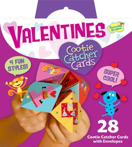 Peaceable Kingdom 28 Card Cootie Catcher Valentines with Envelopes ()