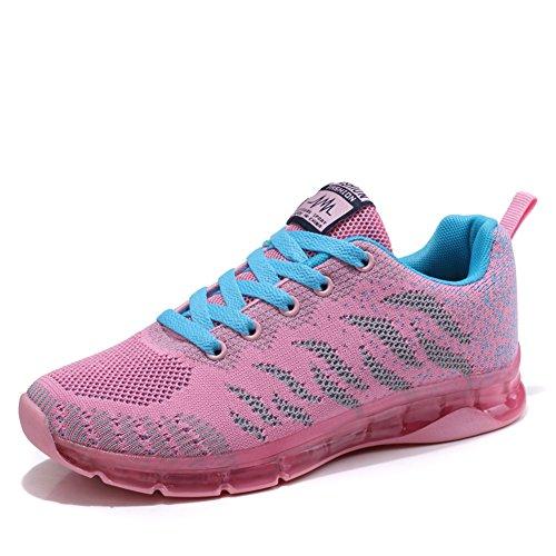 Fexkean Da Casual Rosa Basse Outdoor Running Nero Donna Ginnastica Sportive Bambina 40 35 Rosso Tennis Sneakers Scarpe rpAq5r