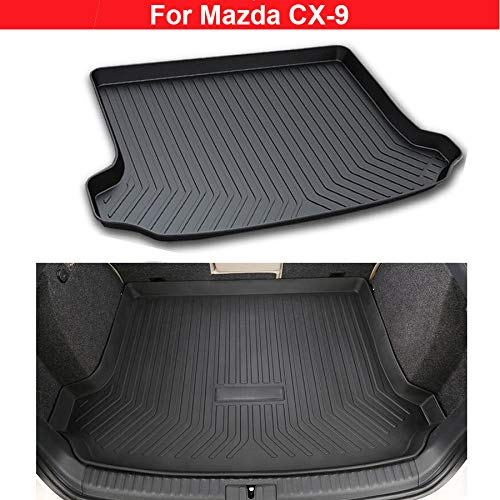New 1pcs TPO Material Car Boot Mat Boot Tray Rear Trunk Cargo Liner Cargo Mat Car Rear Luggage Cover Mat For Mazda CX-9 2009 2010 2011 2012 2013 2014 2015 2016 2017 2018 YongChao