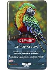 Derwent Chromaflow Color Pencils, Multicolor, Professional Quality, 24-Pack (2305857)
