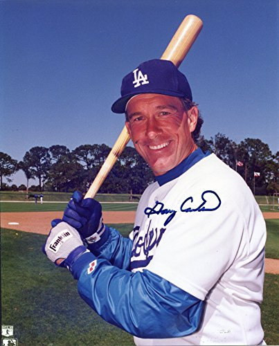 Gary Carter Autographed Los Angeles Dodgers 8x10 Photo