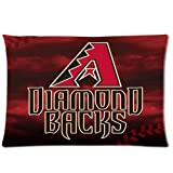 Arizona Diamond Backs Baseball Custom Pillowcase Cover Two Side Picture Size 16x24 Inch