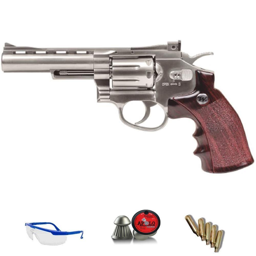 WINCHESTER .45 Rev&oacute; lver Special | Pack Pistola de Aire comprimido (CO2) Y balines de Plomo (perdigones) Cal. 4.5mm. R&eacute; plica Full Metal <3, 5 Julios Gamo Outdoor