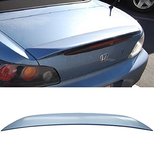 Pre-painted Trunk Spoiler Fits 2000-2009 S2000 | Factory Style ABS Painted #B513M Suzuka Blue Metallic Rear Tail Lip Other Color Available By IKON MOTORSPORTS | 2001 2002 2003 2004 2005 2006 2007 2008
