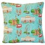 "14"" X 14"" Cushion Cover Pillowcase Cath Kidston Fabric Pattern London"