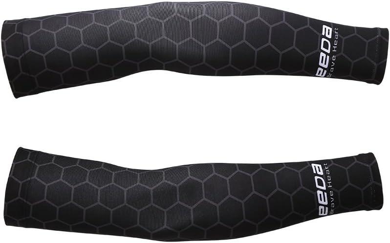 1Paar Unisex UV-Schutz Armlinge Abdeckung Ärmel Hautschutz Sport 35cm Schwarz BY