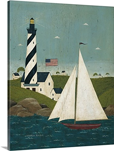 m Thick-Wrap Canvas Wall Art Print entitled Coastal Breeze (Warren Kimble Americana)