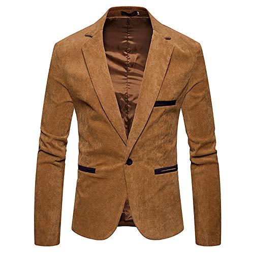 (Muramba Clearance Men's Autumn Winter Casual Corduroy Slim Coat Suit Blazer)