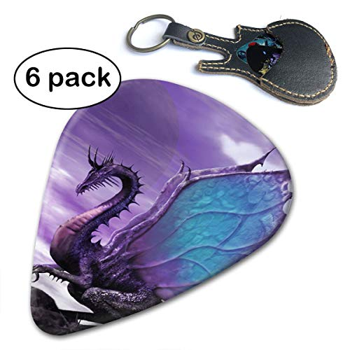 Ivanfield Medieval Fantasy Theme Purple Dragon 351 Shape Classic Celluloid Picks 6-Pack]()