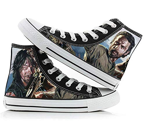 The Walking Dead Daryl Dixon Rick Grimes Cosplay Costume Cosplay Shoes Canvas Shoes Sneakers