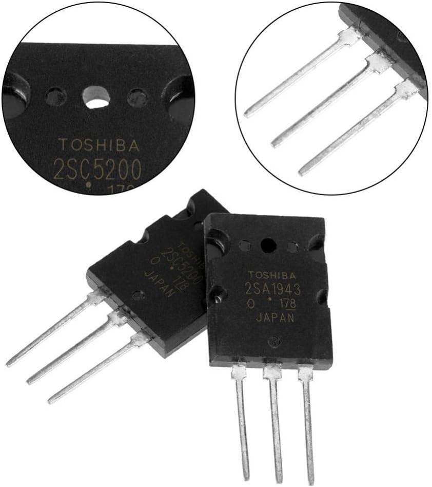 Transistore di amplificazione audio nero ad alta potenza da 5 paia Transistor 2SC5200 abbinato Transistor audio di precisione ad alta potenza 2SC5200