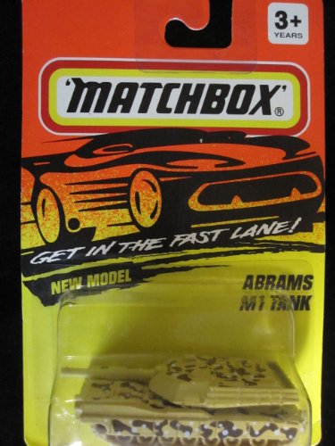 Abrams M1 Tank Desert Camo Scheme Matchbox #54 (Tank Camouflage Desert)