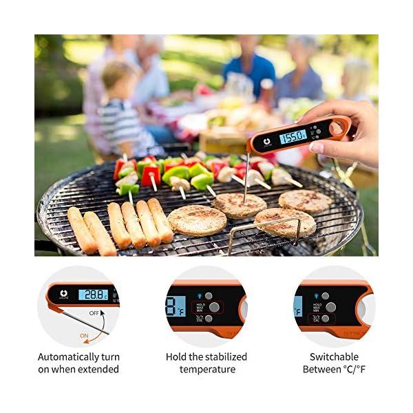 JOLIKE Termometro Cucina 2s Lettura Istantanea IP67 Impermeabile Termometro Sonda Carne Digitale Professionale per BBQ… 4