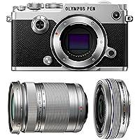 Olympus PEN-F Mirrorless Micro Four Thirds Digital Camera with Olympus M.Zuiko Digital ED 14-42mm f/3.5-5.6 EZ & 40-150mm f/4.0-5.6 R Lenses (Silver)