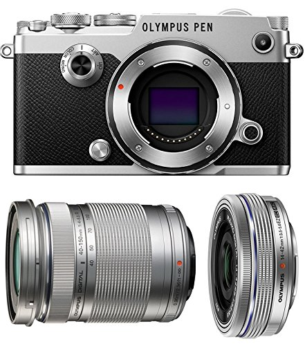 Olympus PEN-F Mirrorless Micro Four Thirds Digital Camera with Olympus M.Zuiko Digital ED 14-42mm f/3.5-5.6 EZ & 40-150mm f/4.0-5.6 R Lenses (Olympus Imaging Kit)
