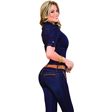 ef18e3d537bf Aranza Slimming Jean Jumpsuit Butt Lifting Enterizos Colombianos Pantalon  Levanta Cola