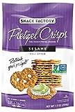 Snack Factory Pretzel Crisps, Sesame, 7.2 Ounce (Pack of 12) For Sale