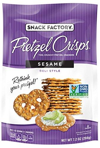(Snack Factory Pretzel Crisps, Sesame, 7.2 Ounce (Pack of 12))