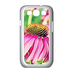 Samsung Galaxy S3 Case,Nature Sole Flower Macro Hard Shell Back Case for White Samsung Galaxy S3 Okaycosama415886