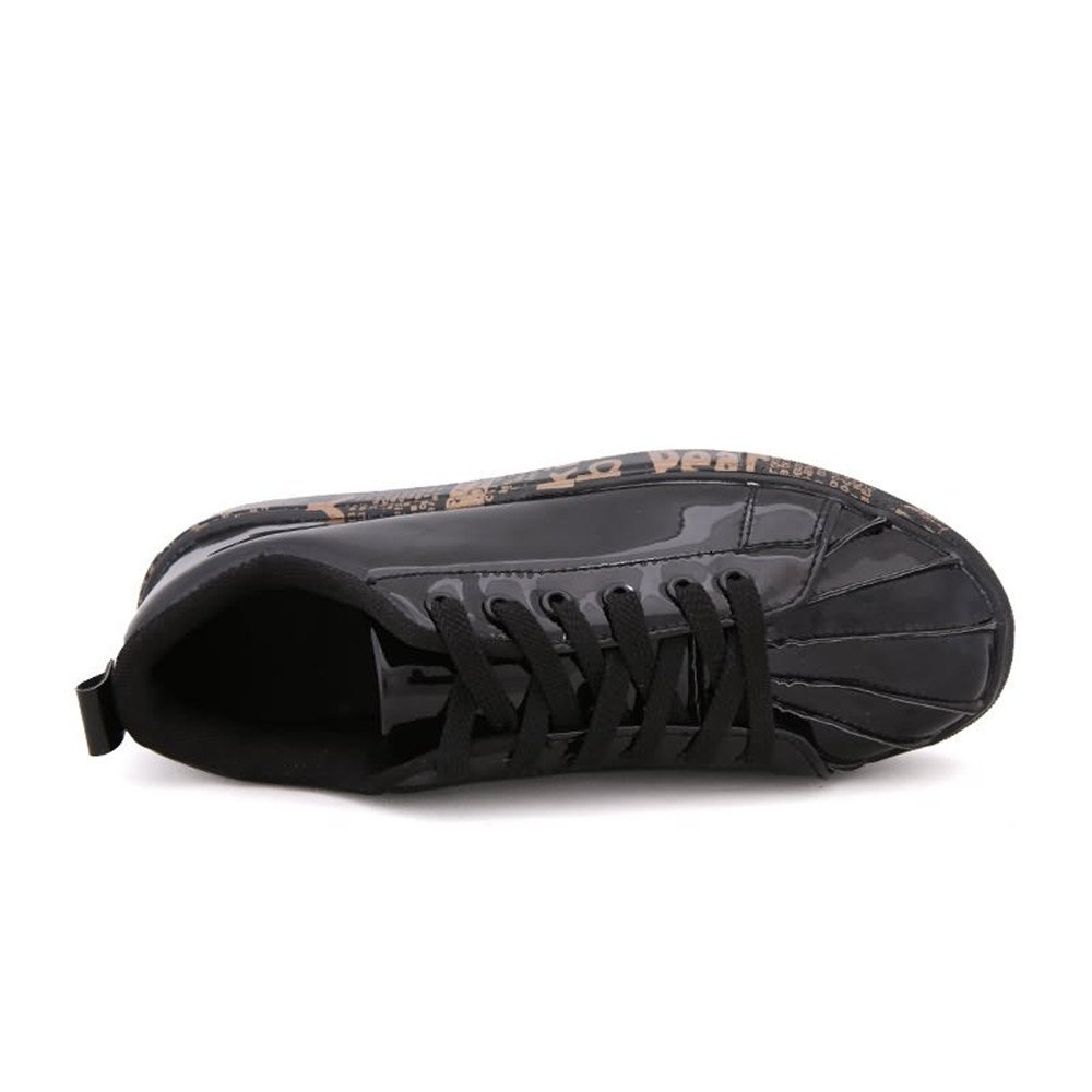 Scarpe da Uomo Tinta Unita Unita Unita in Pelle con Tacco Alto Scarpe da Cricket f0db71