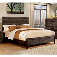 Furniture of America Bahlmer Queen Platform Bed in Dark Gray