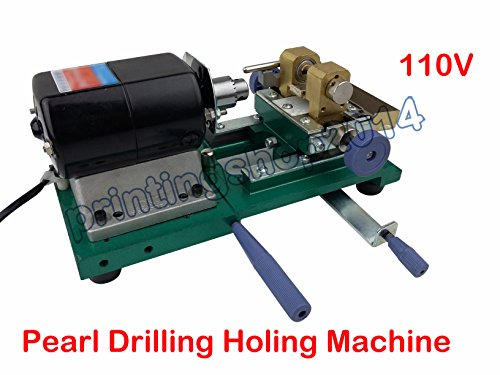 110V Pearl Drilling Holing Machine Driller Full Set Jewel...