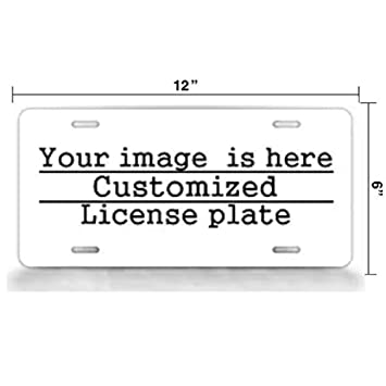 12 X 6 License Plate Covers Personalized Novelty Front Decorative Vanity Aluminum Metal Car Tag