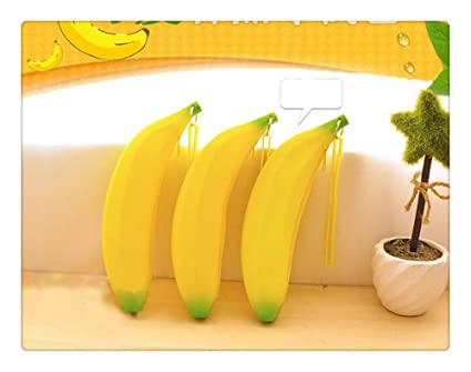 Z-one - Monedero portátil de silicona con forma de plátano ...