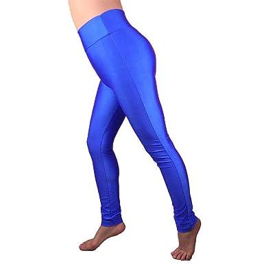 62c3314f8a Hi Fashionz Womens Full Length Leggings Ladies High Waist Casual Activewear  Gym Yoga Pants Royal Blue Small/Medium UK 8-10: Amazon.co.uk: Clothing