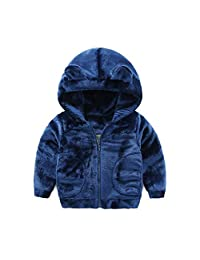 Mud Kingdom Boys' Little Bear Fleece Hooded Coat Winter Outerwear