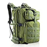MINGPINHUIUS Tactical Backpack, Military Backpack 35L Army Rucksack MOLLE Assault Pack Tactical Combat Backpack for Outdoor Hiking Camping Trekking Fishing Hunting