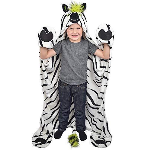 Striker Spring - Fin Fun Striker Zebra Wearable Hooded Blanket by Wild Things