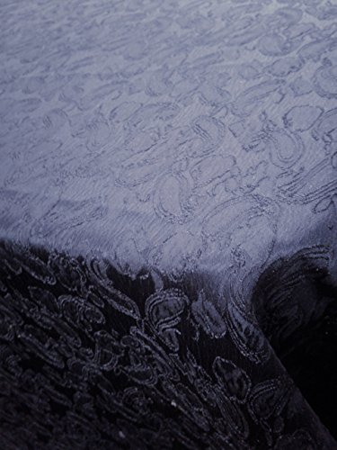Navy Blue Paisley Design Jacquard Brocade Cotton Poly Sold by Yard (Poly Brocade)