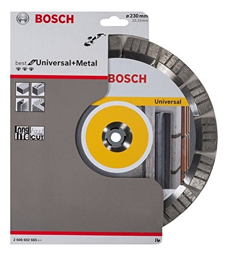 Bosch 2608602665 Disque /à tron/çonner diamant/é best for universal and metal 230 x 22,23 x 2,4 x 15 mm
