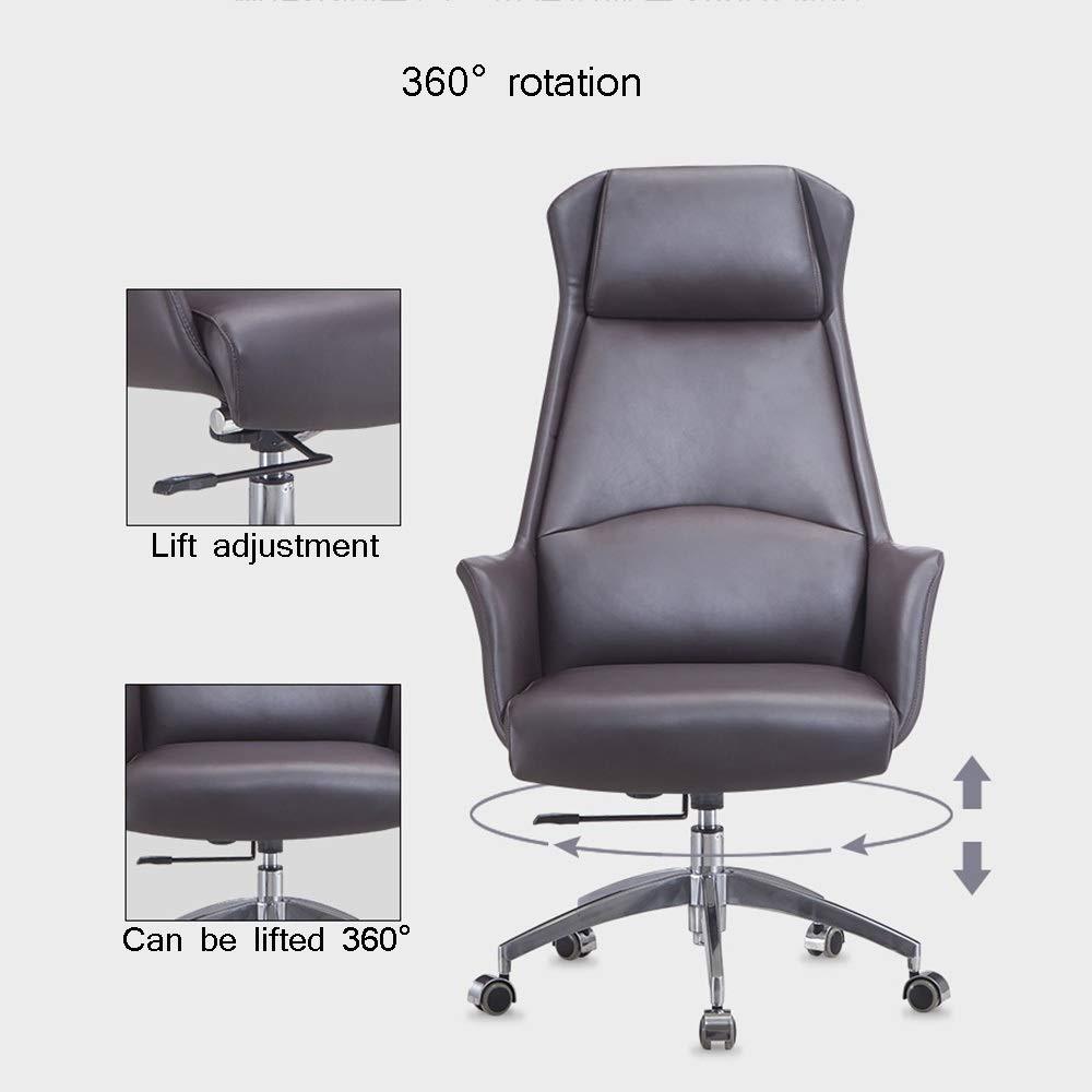 WYY HPLL kontorsstol kontorsstol, ergonomisk verkställande konferensstol hem skrivbord stol höjd justerbar svängbar stol – 125 ° fri funktion svängbar stol (färg: Stil4) stil2