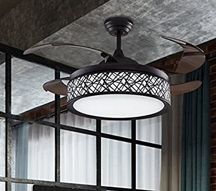 Hidden Ceiling Fan Light Fashion Simple Dining Room Chandelier Bedroom Living Led Household