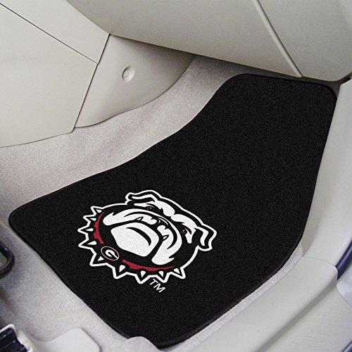 FANMATS NCAA Georgia Bulldogs 2-Piece Carpet Car Mat Set, One Size, Black ()