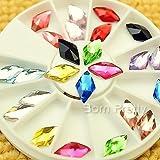 24Pcs/box Colorful Rhombus Nail Studs 3D Nail Decoration In Wheel For UV Gel Nail Art 20268