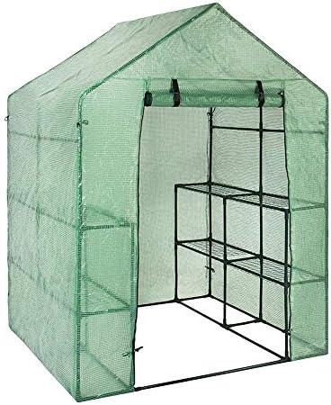 温室は8つの棚が付いている家を育てますプラスチックトマトの温室野菜の果物の花の植物の小屋の散歩143 X 73 X 195 Cm