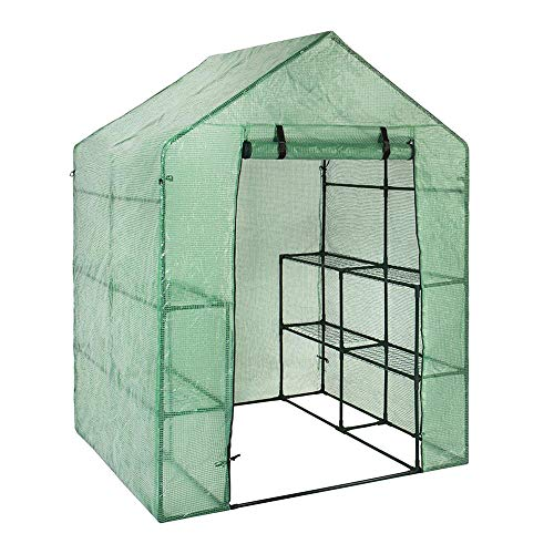 Dynamicoz Walk in Greenhouse, Portable Plant Gardening, Removable Waterproof PE Cover, Greenhouse Mini Plants Shed Hot…