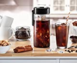 Francois et Mimi BPA-free Glass Iced Coffee Maker, Cold Brew Coffee Pot
