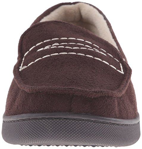 Isotoner Men's Microsuede Moc Thinsulate Flat Chocolate 4x0fL