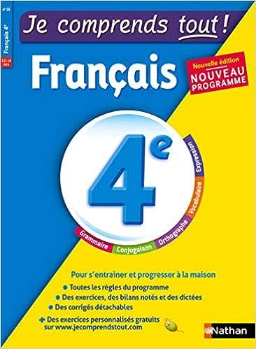 Amazon Fr Je Comprends Tout Francais 4e Nouveau
