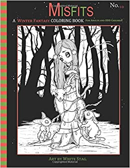 Amazon Com Misfits A Winter Fantasy Coloring Book For Adults And