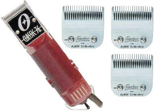 New Oster Classic 76 Hair Clipper 3-Blades (blades sizes are 000, 1, 00000)