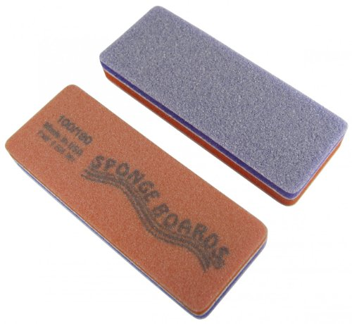 (Purple/Orange Sponge Board (Coarse/Medium) Block Shape Nail File 50 Pack)