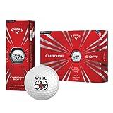 CollegeFanGear Winston Salem Callaway Chrome Soft Golf Balls 12/pkg 'WSSU Ram'