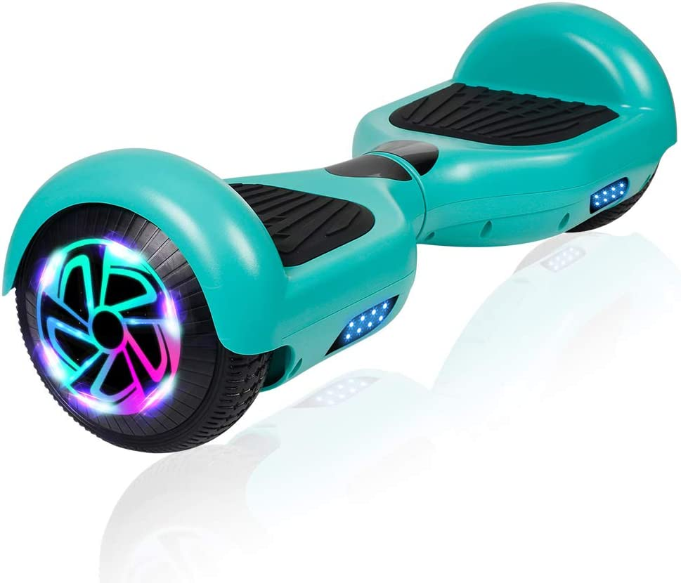 """Amazon.com: jolege Hoverboard, 6.5"""" Two-Wheel Self Balancing Hoverboard -  LED Light Wheel Scooter Hoverboard for Kids: Sports & Outdoors"""