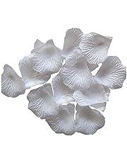 Heddi 1000pcs White Silk Rose Petals Artificial Flower Petals for Wedding Party Vase Decor Bridal Shower Favor Centerpieces Confetti Bouquet